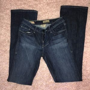 William Rast dark wash classic rise boot cut jeans